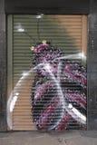 Färgglade grafitti i Croydon, UK Arkivbilder