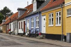 Färgglade hus i norr Europa Royaltyfri Foto