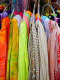 Färgglade kvinnors Scarves Royaltyfri Fotografi