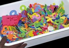Färgglade mallar Arkivfoto