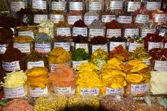 Färgglade marknadsprodukter Arkivbild