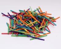 Färgglade matchsticks Arkivfoton
