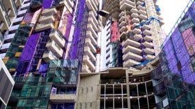 Färgglade moderna byggnader Arkivfoto