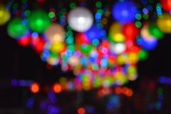 Färgglade oskarpa ljus arkivbilder