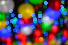 Färgglade oskarpa ljus arkivfoton