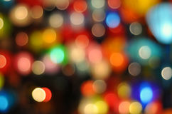 Färgglade oskarpa ljus arkivbild