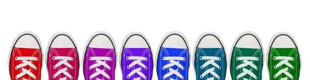Färgglade skor Arkivbild