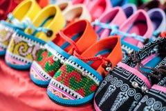 Färgglade skor Arkivfoto