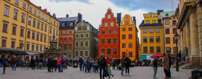 F?rgglade Stockholm royaltyfri foto