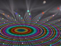 Färgglade strålar som emirging i spiralmodeller Royaltyfria Foton