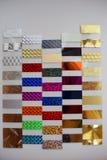 Färgglade stycken av olika sorter av plast- Royaltyfri Foto