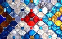 Färgglasvägg arkivbild