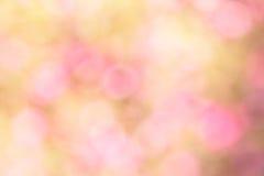 Färgglat av suddiga söta rosa färger för bokehljus Royaltyfria Bilder