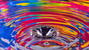 Färgglat av vattendroppslut upp för bakgrunden, textur, mo Royaltyfri Bild