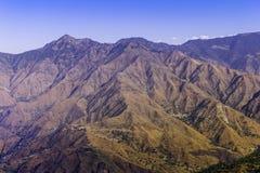 Färgglat berglandskaplandskap Fotografering för Bildbyråer