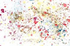 Färgglat dopp för olje- färg vektor illustrationer