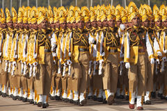 Färgglat marschera för soldater Royaltyfria Foton