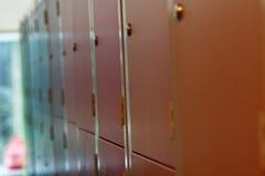 Färgglat skåp Arkivfoton