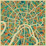 Färgglat stadsplan för Moskva Arkivfoto