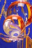 färgglatt crystal exponeringsglas för bollar Arkivfoton