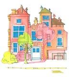 färgglatt hus Royaltyfri Fotografi