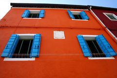 färgglatt hus venice Royaltyfri Fotografi