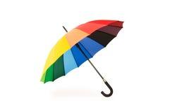 färgglatt isolerat paraply Royaltyfri Bild