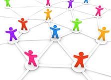 färgglatt nätverksfolk royaltyfri illustrationer