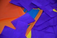 färgglatt paper silkespapper Fotografering för Bildbyråer