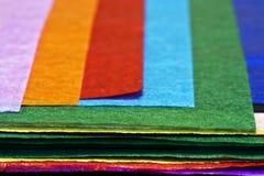 färgglatt paper silkespapper Arkivbild