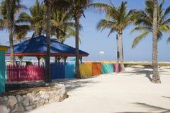 färgglatt staket 2 Arkivfoto