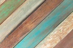 färgglatt trä för bakgrund Arkivbilder