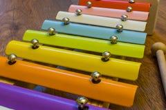 Färgglockenspiel arkivfoto