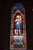 Färggräsfönstret i bild av den Beata Johanna D bågen Royaltyfri Foto