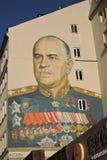 Färggrafitti i Moskvacentrum Arkivfoto