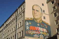 Färggrafitti i Moskvacentrum Royaltyfri Foto