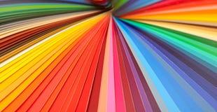 Färghandbokcloseup arkivbild