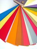 färghandbokpapper arkivfoto