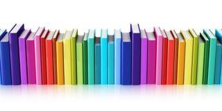 Färghardcoverböcker vektor illustrationer