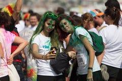 Färghimmel 5K Fotografering för Bildbyråer