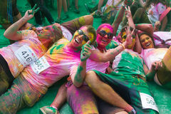Färghimmel 5K Arkivfoto