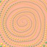 färghjärtor Arkivfoto