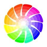 Färghjul från pilar Arkivbild