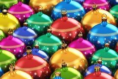 Färgjulbollar stock illustrationer