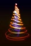 färgjulträd Arkivbild