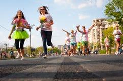 Färgkörning Bucharest royaltyfri bild