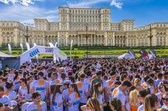 Färgkörningen Bucharest arkivbild