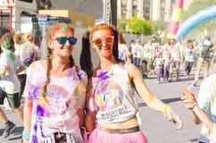 Färgkörningen Bucharest arkivfoton