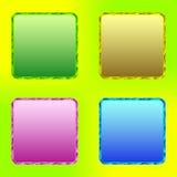 Färgknappar. Uppsättning 2 Arkivfoton