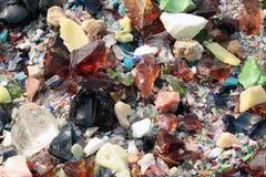 färgkristaller Royaltyfri Fotografi